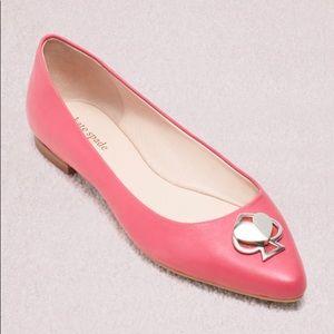 Kate Spade Pink Noah Flats with Gold Heart ❤️